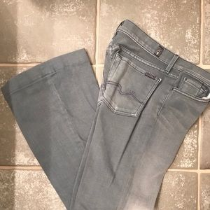 7 For All Mankind Lowrise Ginger wide Leg Jeans